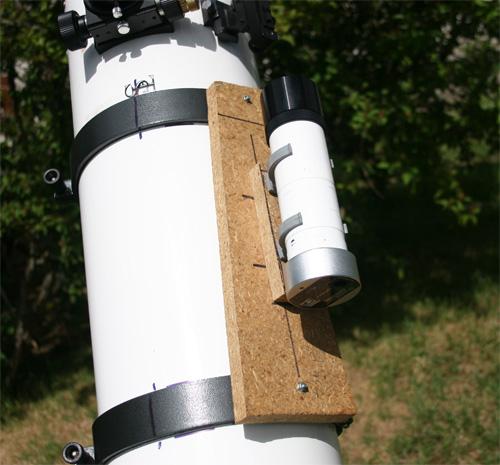 Platine sur le télescope